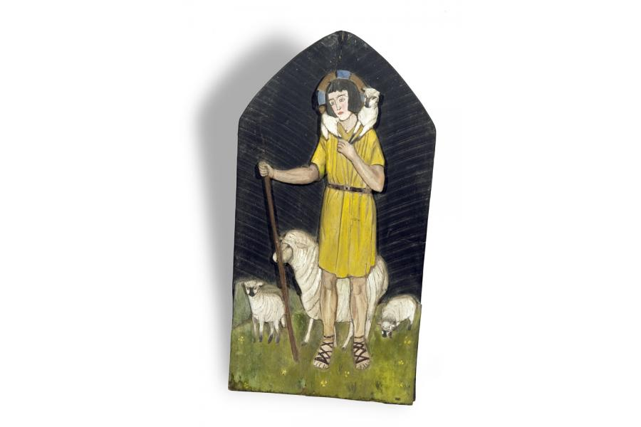 Folk Art Plaque
